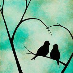 Love birds painting on canvas Bird Paintings On Canvas, Love Birds Painting, Heart Painting, Easy Paintings, Watercolor Paintings, Canvas Art, Bird Canvas, Heart Canvas, Painted Canvas