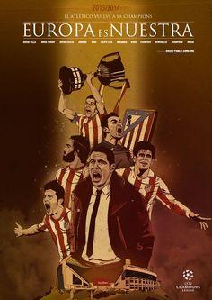 ¡Vamos Atleti! Hoy vs. @FK Austria #DelAtletiSoy Atletico de Madrid by Oscar…