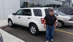 Awesome! Congratulations to Dennis on your new 2012 FORD ESCAPE!  Thank you again, Kunes Country Ford Lincoln of Delavan and DANE ANDERSEN.