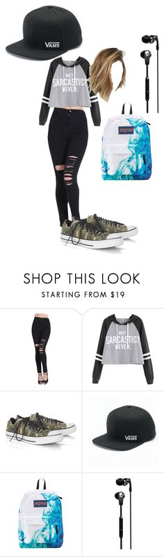 """""""first day of high school"""" by noodle-353 on Polyvore featuring Converse, Vans, JanSport and Skullcandy"""