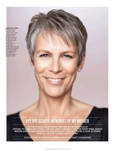 "jamie lee curtis - i had a crush on her when she was in the original movie ""halloween"" no matter how she aged she is just beautiful"