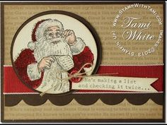 Stampin' Up Santa's List Christmas Card