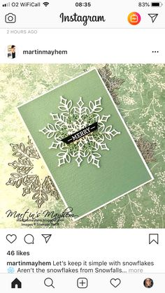 Snowflake Cards, Christmas Snowflakes, Winter Christmas, Xmas, Christmas Cards 2018, Holiday Cards, Rubber Stamping, Stamping Up, Handmade Christmas