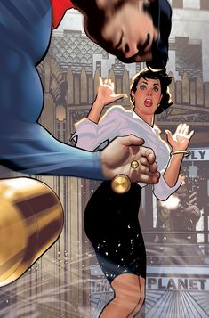 """variantcomicscovers: """"This is the Adam Hughes variant cover for Superman """" Marvel Comics, Marvel E Dc, Dc Comics Art, Marvel Comic Books, Fun Comics, Cosmic Comics, Comic Superheroes, Adam Hughes, Superman Family"""