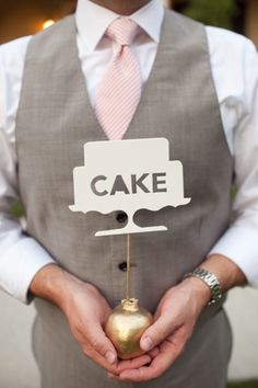Cute cake sign or table signs