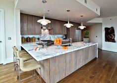 SAVAGE Interior Design: A sleek and modern kitchen.