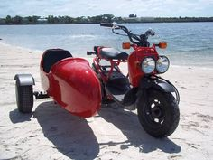Sidecars for scooters mounting on Honda,vespa, stella, guniune scooters, yamaha and suzuki motor scooters Triumph Motorcycles, Custom Motorcycles, Cars And Motorcycles, Honda Ruckus, Honda Scooters, Motor Scooters, Tricycle, Choppers, Ducati