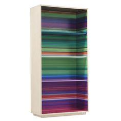 Libreria Color Fall da terra, stampa multicolor e struttura in legno di frassino. Scoprila in vendoarredo.com