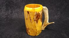 Check out this item in my Etsy shop https://www.etsy.com/listing/255870344/wooden-beer-mug-beer-stein-sca-tankard