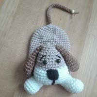 Sil's Corner: Patroon sleutelhanger/hoesje hond