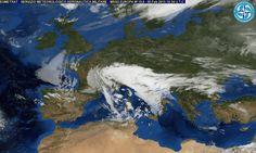 """""""Big Snow"""" ancora in piena azione. Al mattino neve ancora diffusa al Nord, eccetto su coste del Triveneto e, localmente, debole sul Piemonte centrale. Molte nubi e piogge al Sud e Sardegna, con neve a 500 m sull'isola, tra 700 e 800 m al Sud. Piogge e neve a 6/800 m sul medio Adriatico, a bassa quota sul Nord Appennino, meglio altrove al Centro - Proiezione per Sabato 7 Febbraio - Domenica 8 Febbraio - Lunedì 9 Febbraio"""
