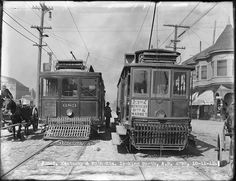 Streetcars 683 and 957 on 3rd Street and 20th Street Looking North | October 11, 1911