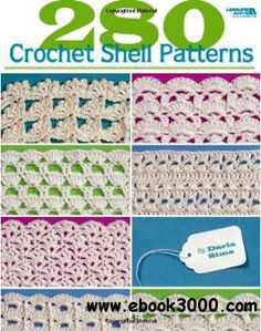 17 best crochet books images on pinterest crochet patterns 280 crochet shell patterns free ebooks download fandeluxe Image collections