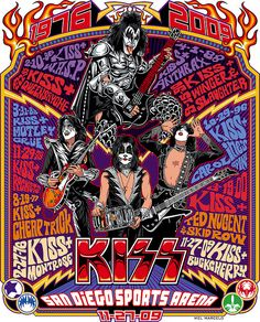Retro KISS Concert Poster by Mel Marcelo