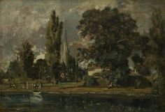 Salisbury Cathedral and Leadenhall from the River Avon, 1820 - John Constable - National Gallery, London