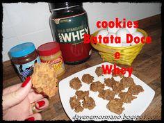 Cookies de batata doce com whey