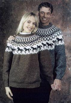 Islina Garn och Design (Islina Yarn and Design) - Pattern - PENGUIN - Icelandic knitted child sweater in Lettlopi - FREE Fair Isle Knitting, Knitting Yarn, Free Knitting, Knitting Sweaters, Sweater Knitting Patterns, Knit Patterns, Icelandic Sweaters, Nordic Sweater, Horse Pattern