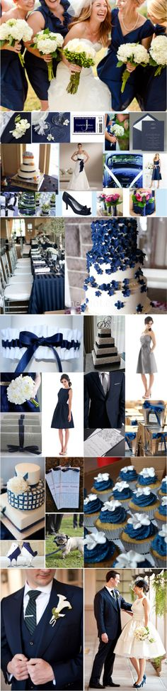 Navy and White wedding inspiration, could be done with any shade of blue though. Personally, I prefer cerulean.
