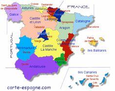 carte regions espagne