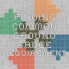 Finding common ground badge requirement