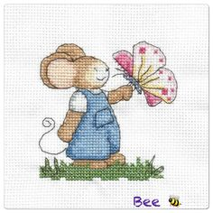 Furry Tales Butterfly Mouse The World of Cross Stitching Issue 193 September 2012 Saved