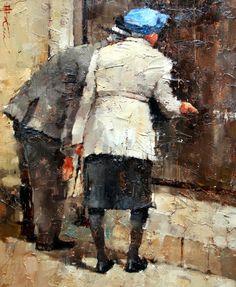 Andre Kohn - (Impressionismo Figurativo) Russo - Pinturas com Títulos - Pinturas do A'Uwe