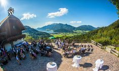 Beautiful outdoor setting for your destination wedding in Austria! Wedding Planner, Destination Wedding, Wedding Venues, Salzburg, Outdoor Settings, Lake View, Austria, Getting Married, Dolores Park