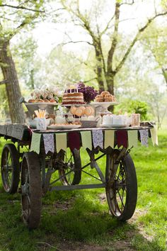 to Reality: Farm-to-Table by Angie Wilson Photography + Calluna Events Country wedding ideas, wagon as a dessert tableCountry wedding ideas, wagon as a dessert table Fingers Food, Reception Food, Wedding Reception, Food Displays, Partys, Wedding Inspiration, Wedding Ideas, Wedding Stuff, Table Wedding