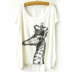 29,90EUR T-Shirt mit Giraffe mit Krone
