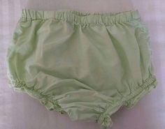 George Baby Girl Bloomers 12M Light Pistachio Green Cotton Ruffled Legs #George #Bloomers #EasterDressyEverydayHoliday