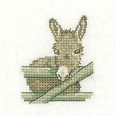 Donkey – Little Friends Cross Stitch Kit By Heritage Crafts