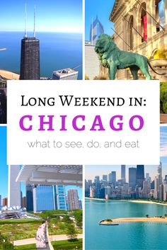 Planning a long weekend in Chicago? >> Great resource for the top things to do, see, and eat! | www.apassionandapassport.com