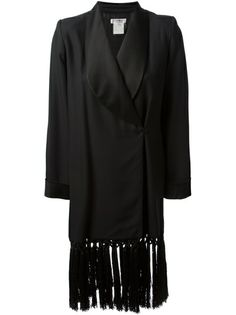 YVES SAINT LAURENT VINTAGE Tasseled Coat
