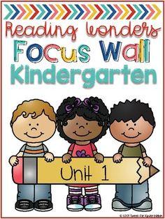 Kindergarten Focus Wall Binder Covers (for Reading Wonders)