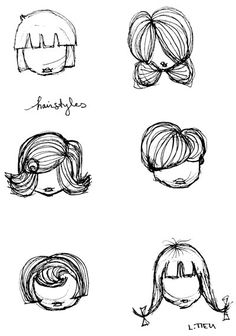 Drawing Doodles Sketches - A bit of practice, doodling possible hairstyles on my girl illustrations. I tend to do the same thing all the time…need to practice variety… Human Drawing, Cartoon Girl Drawing, Cartoon Drawings, Learn Drawing, Figure Drawing, Doodle Sketch, Doodle Drawings, Drawing Sketches, Hand Drawings