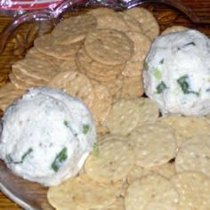 feta cheese ball. i served this twice during the holidays. both times were a HUGE hit. it's so rich and flavorful!