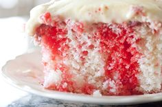 jello poke cake, I don't ever use pudding with the cool whip on the icing, but I might try this.  Have made this for years and it is perfect for summer!  Use any kind of jello, our favorite is strawberry!