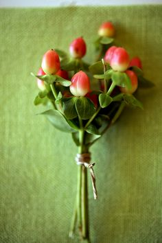 Fall Berry Boutonniere