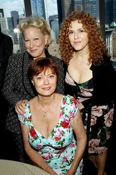 Bette Midler, Susan Sarandon & Bernadette Peters- performers in their 60's. Description from pinterest.com. I searched for this on bing.com/images