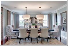 Dining Double Chandeliers Elegant Room Beautiful Rooms Sets