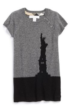 Burberry Statue of Liberty Cashmere Dress (Baby Girls) available at #Nordstrom