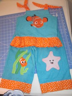 Finding Nemo outfit size 4/5 by AlexaBrookeFashions on Etsy, $40.00