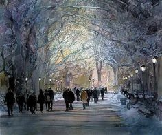 Watercolor painting by John Salminen, from Minnesota,