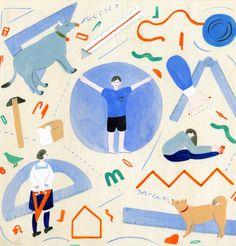 CYAN 2014 WINTER|缶詰と体操|挿絵 定規
