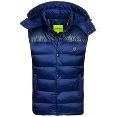 Pánska vesta tmavomodrej farby - fashionday.eu Winter Jackets, Fashion, Winter Coats, Moda, Winter Vest Outfits, Fashion Styles, Fashion Illustrations