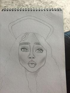 Rihanna inspired by @emzdrawings