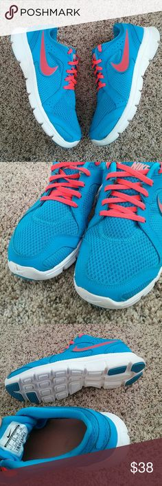 Nike flex experience rn 2 In very good clean condition. Blue with coral womens size 7 Nike Shoes
