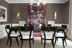 @Lisa Tatum - this reminded me of your dining room...didn't you want to paint your china hutch red?