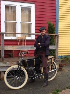Jacob Doyle in Newfoundland on his motor bike