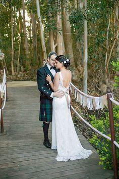 Allesverloren in Riebeek Casteel. We can hang fairy lights off the ropes Bohemian Wedding Dresses, Designer Wedding Dresses, Matric Dance Dresses, Casual Bride, Informal Weddings, Fairy Lights, Designer Wear, Dress Making, Real Weddings